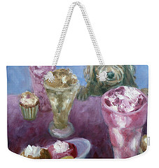 Ice Cream With Dog Weekender Tote Bag