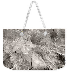 Ice Crystals Weekender Tote Bag by Heather Kirk