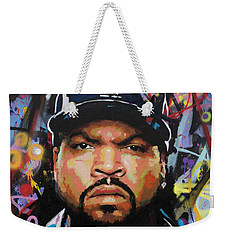Weekender Tote Bag featuring the painting Ice Cube by Richard Day