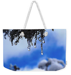 Ice Drops Weekender Tote Bag