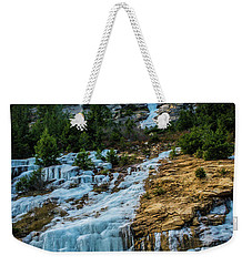 Ice Fall Weekender Tote Bag