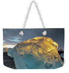 Weekender Tote Bag featuring the photograph Ice Fish by Allen Biedrzycki