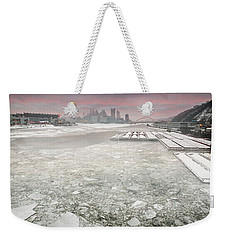 Frozen Allegheny River  Weekender Tote Bag