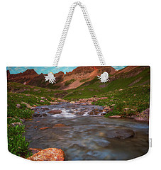 Weekender Tote Bag featuring the photograph Ice Lake Nights by Darren White