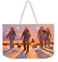 Ice Men Come Home Weekender Tote Bag by Kathy Braud