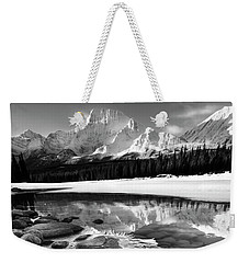 Weekender Tote Bag featuring the photograph Ice On The Athabasca by Dan Jurak