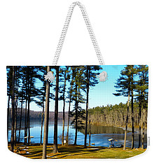 Ice On The Water Weekender Tote Bag by Donald C Morgan