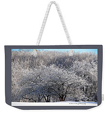 Weekender Tote Bag featuring the photograph Ice Orchard by Diane E Berry