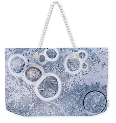 Ice Pattern Five Weekender Tote Bag by Davorin Mance