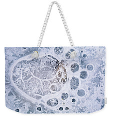 Ice Pattern One Weekender Tote Bag by Davorin Mance