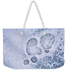 Ice Pattern Three Weekender Tote Bag by Davorin Mance