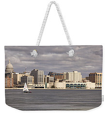 Ice Sailing - Lake Monona - Madison - Wisconsin Weekender Tote Bag