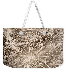 Weekender Tote Bag featuring the photograph Ice Skating Marks by John Williams