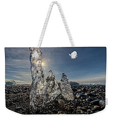 Weekender Tote Bag featuring the photograph Ice Spires by Rikk Flohr