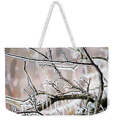 Ice Storm Ice Weekender Tote Bag by Craig Walters
