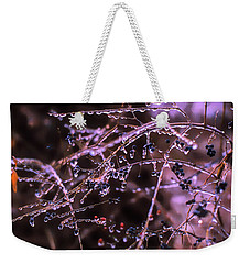 Weekender Tote Bag featuring the photograph Ice Storm by Richard Goldman