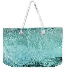 Ice Texture Panorama Weekender Tote Bag