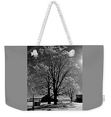 Weekender Tote Bag featuring the photograph Ice Tree by Diane E Berry