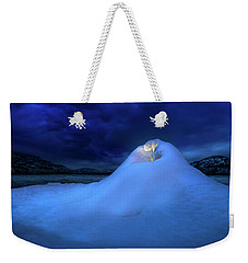 Weekender Tote Bag featuring the photograph Ice Volcano by John Poon