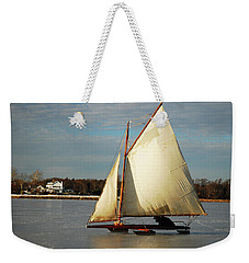 Ice Yachting Weekender Tote Bag