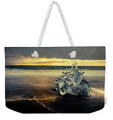 Weekender Tote Bag featuring the photograph Iceberg At Dawn by Rikk Flohr