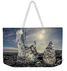 Weekender Tote Bag featuring the photograph Iceberg Fingers Catching The Sun by Rikk Flohr