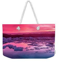 Iceberg In Jokulsarlon Glacial Lagoon Weekender Tote Bag by Joe Belanger
