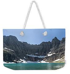Iceberg Lake Panoramic - Glacier National Park Weekender Tote Bag
