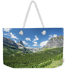 Iceberg Lake Trail Mountain Valley - Glacier National Park Weekender Tote Bag