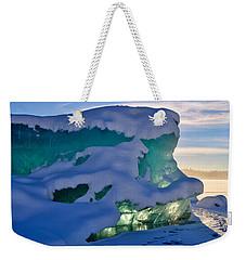 Iceberg's Glow - Mendenhall Glacier Weekender Tote Bag by Cathy Mahnke
