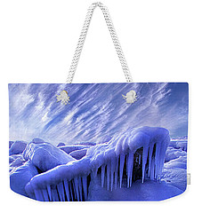 Weekender Tote Bag featuring the photograph Iced Blue by Phil Koch