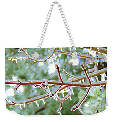 Iced Maple Branches Weekender Tote Bag