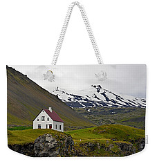 Iceland House And Glacier Weekender Tote Bag