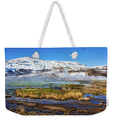 Weekender Tote Bag featuring the photograph Iceland Landscape Geothermal Area Haukadalur by Matthias Hauser
