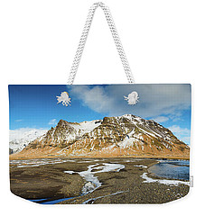 Weekender Tote Bag featuring the photograph Iceland Landscape Panorama Sudurland by Matthias Hauser