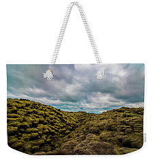 Iceland Moss And Clouds Weekender Tote Bag by Venetia Featherstone-Witty