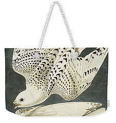 Iceland Or Jer Falcon Weekender Tote Bag by John James Audubon