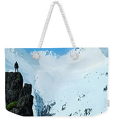Iceland Snow Covered Mountains Weekender Tote Bag
