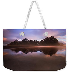 Iceland Sunset Reflections Weekender Tote Bag