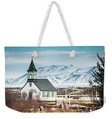 Icelandic Church, Thingvellir Weekender Tote Bag