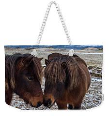 Icelandic Horses Couple Weekender Tote Bag