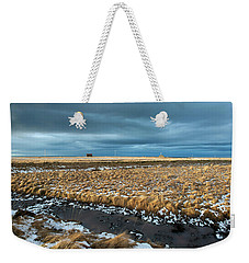 Weekender Tote Bag featuring the photograph Icelandic Landscape by Dubi Roman