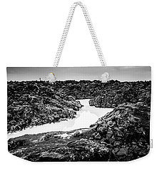 Icelandic Silica Stream In Black And White Weekender Tote Bag