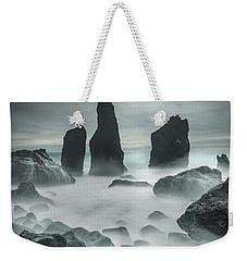 Icelandic Storm Beach And Sea Stacks. Weekender Tote Bag