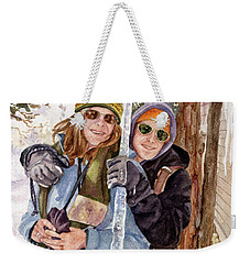 Icicle Weekender Tote Bag by Anne Gifford