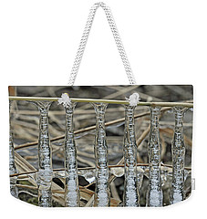 Weekender Tote Bag featuring the photograph Icicles On A Stick by Glenn Gordon