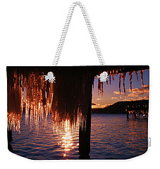 Icicle Stars Sunset Weekender Tote Bag by Sean Sarsfield