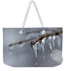 Icicle Teardrop Weekender Tote Bag