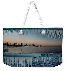 Icicles And Chicago Skyline Weekender Tote Bag