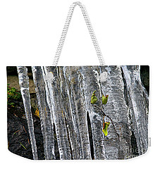 Weekender Tote Bag featuring the photograph Icicles by Sharon Talson